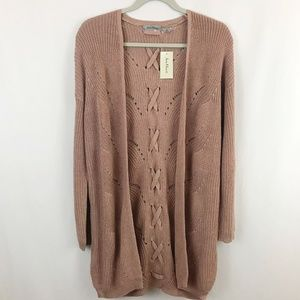 Jason Maxwell Open Front Long Cardigan Sweater